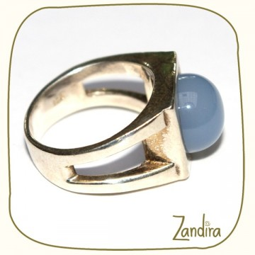 Bague féminine bleue (onyx)