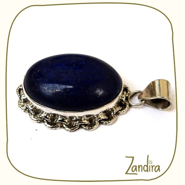 Pendentif en lapis lazuli et argent 925