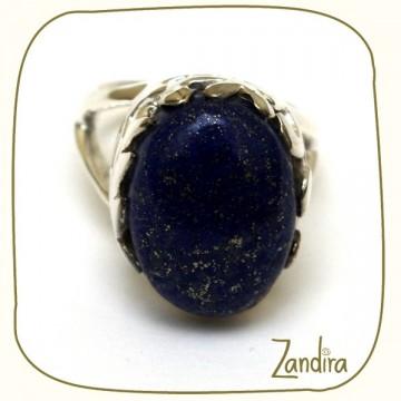 Bague bleue en lapis lazuli et argent 925
